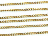 "Brass Plated Aluminum Curb Chain 3mm - 36""  (CHAIN10)"