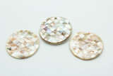 Natural Mother of Pearl Round Shell Pendant 48-50mm (AP1465)