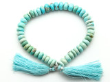 Faceted Sleeping Beauty Turquoise Beads 8-10mm (TUR155)