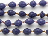 "Purple Recycled Paper Beads - 36"" strand (PA72)"