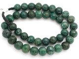 Old Jatim Majapahit Green Glass Beads 16-18mm (RF637)