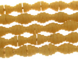 Butterscotch Yellow Pyramid Sandcast Glass Beads 7mm (SC872)