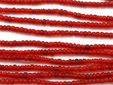Transparent Red Glass Trade Beads 2-3mm (AT877)