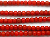 Red Alombo Padre Trade Beads 8mm - Nigeria (AT888)