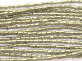 Silver Short Tube Metal Beads - Ethiopia 2mm (ME333)