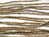 Brass Tube Metal Beads 4mm - Ethiopia (ME334)