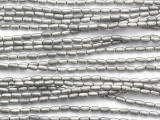 Gunmetal Silver Tube Metal Beads 4mm - Ethiopia (ME335)