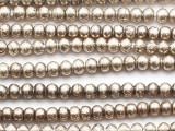 Silver Irregular Round Metal Beads 7mm - Ethiopia (ME342)
