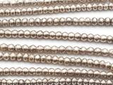Silver Irregular Bicone Metal Beads 4mm - Ethiopia (ME345)