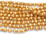 Ecuadorian Gold-Plated Glass Beads 5mm (EG12)