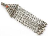 Afghan Tribal Silver Pendant - Amulet 114mm (AF259)