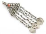 Afghan Tribal Silver Pendant - Amulet 76mm (AF260)