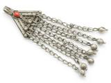 Afghan Tribal Silver Pendant - Amulet 89mm (AF265)