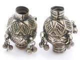 Tribal Silver Large Bead - Afghanistan 52mm (AF318)