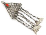 Afghan Tribal Silver Pendant - Amulet 101mm (AF228)