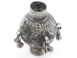 Tribal Silver Large Bead - Afghanistan 55mm (AF333)