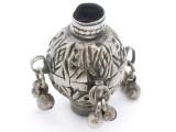 Tribal Silver Large Bead - Afghanistan 42mm (AF335)