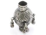 Tribal Silver Large Bead - Afghanistan 50mm (AF336)