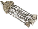 Afghan Tribal Silver Pendant - Amulet 101mm (AF239)