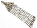 Afghan Tribal Silver Pendant - Amulet 127mm (AF251)