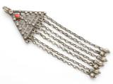 Afghan Tribal Silver Pendant - Amulet 127mm (AF252)