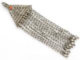 Afghan Tribal Silver Pendant - Amulet 140mm (AF253)