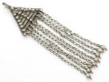 Afghan Tribal Silver Pendant - Amulet 127mm (AF255)