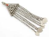 Afghan Tribal Silver Pendant - Amulet 152mm (AF258)