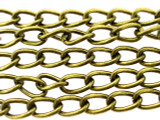 "Antique Brass Plated Steel Curb Chain 11mm - 38""  (CHAIN22)"