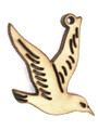 Bird (left) - Wood Cut Charm 22mm (WP34)