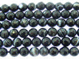 Banded Onyx Faceted Round Gemstone Beads 6mm (GS3438)