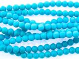 Turquoise Howlite Round Gemstone Beads 4mm (GS3449)