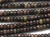 Purple Silver Line Jasper Rondelle Gemstone Beads 6mm (GS3455)