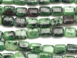 Ruby Zoisite Rectangular Tabular Gemstone Beads 9.5mm (GS3478)