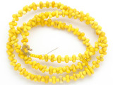 Old Mayan Yellow Glass Beads 7.5mm (GUA446)
