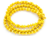 Old Mayan Yellow Glass Beads 8-8.5mm (GUA451)