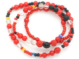 Old Mayan Assorted Glass Beads 4-9mm (GUA460)