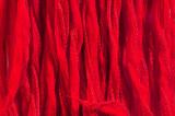 "Red Hand Stitched Silk Fairy Ribbon 42"" (SK1000)"
