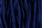 "Navy Blue Hand Stitched Silk Fairy Ribbon 42"" (SK1004)"