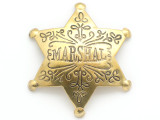 Brass Marshal Star Metal Badge 83mm (AP1519)