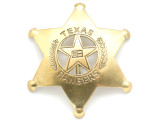 Brass Texas Ranger Star Metal Badge 83mm (AP1520)