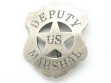 Silver Deputy US Marshal Badge Metal Badge 67mm (AP1535)