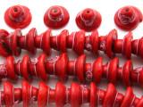 Red Hat w/Flower Lampwork Glass Beads 12mm (LW1538)