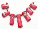Pink Magnesite Gemstone Pendants - Set of 7 (GSP423)