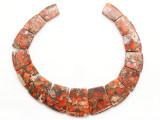 Orange Magnesite Gemstone Pendants - Set of 15 (GSP448)