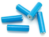 Blue Tube Recycled Paper Beads 25mm (PA78)