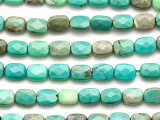 Green Moss Opal Rectangular Tabular Gemstone Beads 7mm (GS3535)