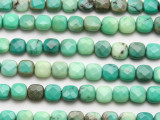 Green Moss Opal Square Tabular Gemstone Beads 8mm (GS3537)