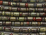 Dragon Blood Jasper Cylinder & Rondelle Gemstone Beads 3-9mm (GS3502)