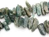 Green Kyanite Graduated Stick Gemstone Beads 23-45mm (GS3520)